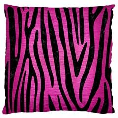 Skin4 Black Marble & Pink Brushed Metal (r) Standard Flano Cushion Case (one Side) by trendistuff