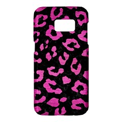 Skin5 Black Marble & Pink Brushed Metal Samsung Galaxy S7 Hardshell Case  by trendistuff