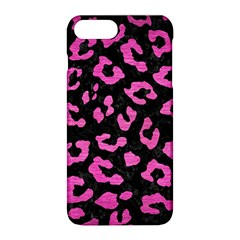 Skin5 Black Marble & Pink Brushed Metal Apple Iphone 8 Plus Hardshell Case