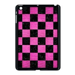 Square1 Black Marble & Pink Brushed Metal Apple Ipad Mini Case (black) by trendistuff