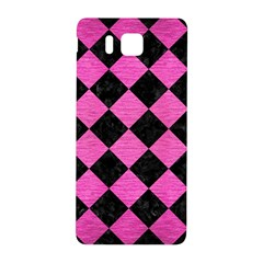 Square2 Black Marble & Pink Brushed Metal Samsung Galaxy Alpha Hardshell Back Case by trendistuff