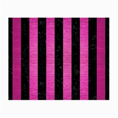 Stripes1 Black Marble & Pink Brushed Metal Small Glasses Cloth by trendistuff