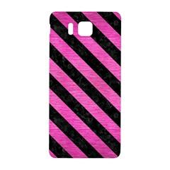 Stripes3 Black Marble & Pink Brushed Metal Samsung Galaxy Alpha Hardshell Back Case by trendistuff