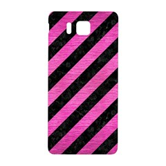 Stripes3 Black Marble & Pink Brushed Metal (r) Samsung Galaxy Alpha Hardshell Back Case by trendistuff