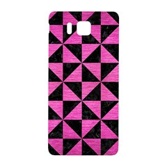 Triangle1 Black Marble & Pink Brushed Metal Samsung Galaxy Alpha Hardshell Back Case by trendistuff