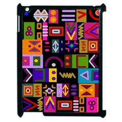 Abstract A Colorful Modern Illustration Apple Ipad 2 Case (black) by Celenk
