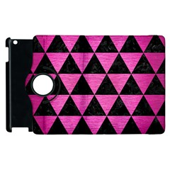 Triangle3 Black Marble & Pink Brushed Metal Apple Ipad 2 Flip 360 Case by trendistuff
