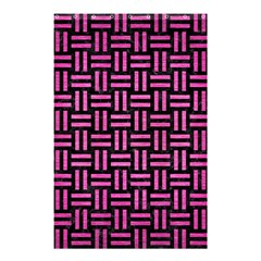 Woven1 Black Marble & Pink Brushed Metal (r) Shower Curtain 48  X 72  (small)  by trendistuff