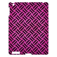 Woven2 Black Marble & Pink Brushed Metal Apple Ipad 3/4 Hardshell Case by trendistuff