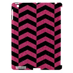 Chevron2 Black Marble & Pink Denim Apple Ipad 3/4 Hardshell Case (compatible With Smart Cover) by trendistuff