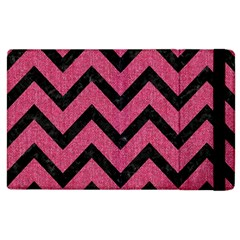 Chevron9 Black Marble & Pink Denim Apple Ipad 3/4 Flip Case by trendistuff