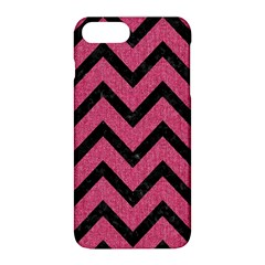Chevron9 Black Marble & Pink Denim Apple Iphone 8 Plus Hardshell Case