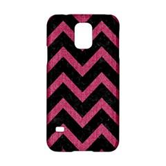 Chevron9 Black Marble & Pink Denim (r) Samsung Galaxy S5 Hardshell Case  by trendistuff