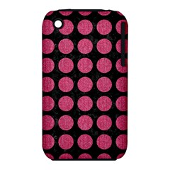 Circles1 Black Marble & Pink Denim (r) Iphone 3s/3gs by trendistuff