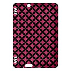 Circles3 Black Marble & Pink Denim Kindle Fire Hdx Hardshell Case by trendistuff