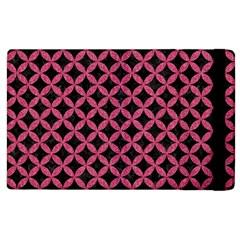 Circles3 Black Marble & Pink Denim (r) Apple Ipad 2 Flip Case by trendistuff