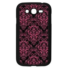 Damask1 Black Marble & Pink Denim (r) Samsung Galaxy Grand Duos I9082 Case (black) by trendistuff