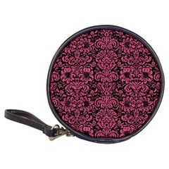 Damask2 Black Marble & Pink Denim (r) Classic 20 Cd Wallets by trendistuff