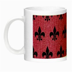 Royal1 Black Marble & Pink Denim (r) Night Luminous Mugs by trendistuff