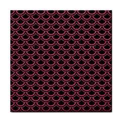 Scales2 Black Marble & Pink Denim (r) Face Towel by trendistuff