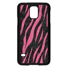 Skin3 Black Marble & Pink Denim (r) Samsung Galaxy S5 Case (black) by trendistuff
