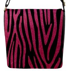 Skin4 Black Marble & Pink Denim Flap Messenger Bag (s) by trendistuff