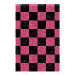 Square1 Black Marble & Pink Denim Shower Curtain 48  X 72  (small)  by trendistuff