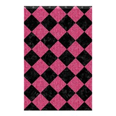 Square2 Black Marble & Pink Denim Shower Curtain 48  X 72  (small)  by trendistuff