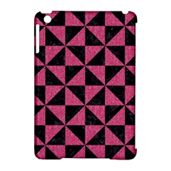 Triangle1 Black Marble & Pink Denim Apple Ipad Mini Hardshell Case (compatible With Smart Cover) by trendistuff