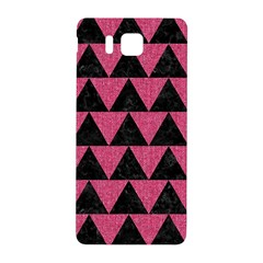 Triangle2 Black Marble & Pink Denim Samsung Galaxy Alpha Hardshell Back Case by trendistuff