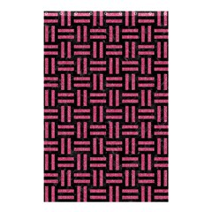 Woven1 Black Marble & Pink Denim (r) Shower Curtain 48  X 72  (small)  by trendistuff