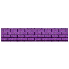 Brick1 Black Marble & Purple Denim Small Flano Scarf by trendistuff
