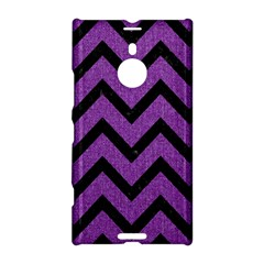 Chevron9 Black Marble & Purple Denim Nokia Lumia 1520 by trendistuff
