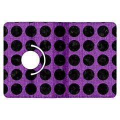 Circles1 Black Marble & Purple Denim Kindle Fire Hdx Flip 360 Case by trendistuff