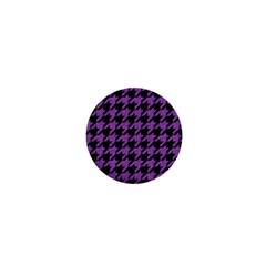 Houndstooth1 Black Marble & Purple Denim 1  Mini Buttons by trendistuff