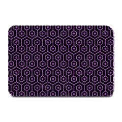 Hexagon1 Black Marble & Purple Denim (r) Plate Mats by trendistuff