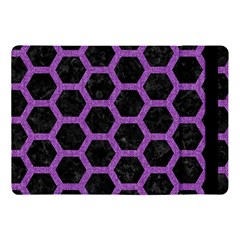 Hexagon2 Black Marble & Purple Denim (r) Apple Ipad Pro 10 5   Flip Case