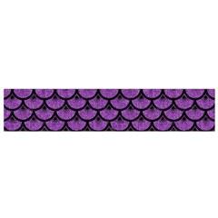 Scales3 Black Marble & Purple Denim Small Flano Scarf by trendistuff