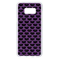 Scales3 Black Marble & Purple Denim (r) Samsung Galaxy S8 Plus White Seamless Case by trendistuff