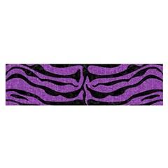 Skin2 Black Marble & Purple Denim Satin Scarf (oblong) by trendistuff