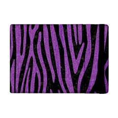 Skin4 Black Marble & Purple Denim Apple Ipad Mini Flip Case by trendistuff