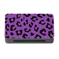 Skin5 Black Marble & Purple Denim (r) Memory Card Reader With Cf by trendistuff