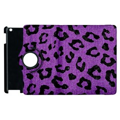 Skin5 Black Marble & Purple Denim (r) Apple Ipad 2 Flip 360 Case by trendistuff