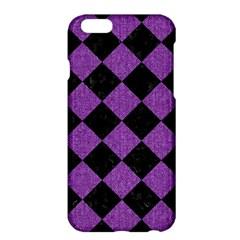 Square2 Black Marble & Purple Denim Apple Iphone 6 Plus/6s Plus Hardshell Case by trendistuff