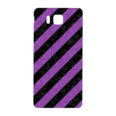 Stripes3 Black Marble & Purple Denim (r) Samsung Galaxy Alpha Hardshell Back Case by trendistuff