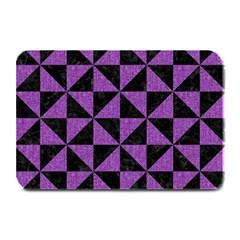 Triangle1 Black Marble & Purple Denim Plate Mats by trendistuff