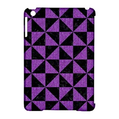 Triangle1 Black Marble & Purple Denim Apple Ipad Mini Hardshell Case (compatible With Smart Cover) by trendistuff