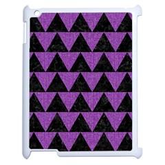 Triangle2 Black Marble & Purple Denim Apple Ipad 2 Case (white) by trendistuff
