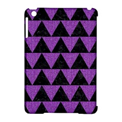 Triangle2 Black Marble & Purple Denim Apple Ipad Mini Hardshell Case (compatible With Smart Cover) by trendistuff