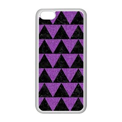 Triangle2 Black Marble & Purple Denim Apple Iphone 5c Seamless Case (white) by trendistuff